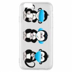 Чохол для iPhone 6S Monkeys in medical masks