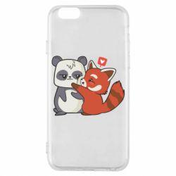 Чохол для iPhone 6S Panda and fire panda