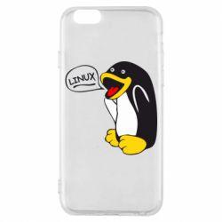 Чехол для iPhone 6S Пингвин Линукс