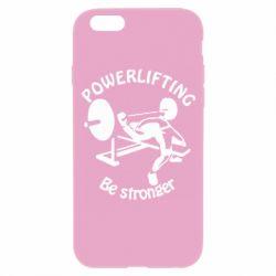 Чехол для iPhone 6S Powerlifting be Stronger