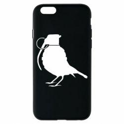 Чехол для iPhone 6S Птичка с гранатой