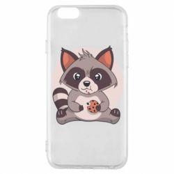 Чохол для iPhone 6S Raccoon with cookies