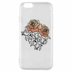 Чохол для iPhone 6S Roses with patterns