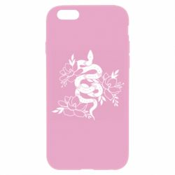 Чохол для iPhone 6S Snake with flowers