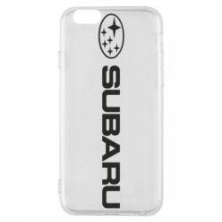 Чехол для iPhone 6S Subaru logo