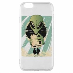 Чохол для iPhone 6S Alien with a can