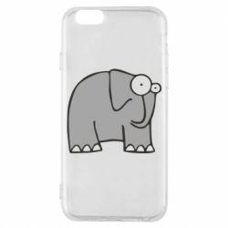 Чехол для iPhone 6S удивленный слон