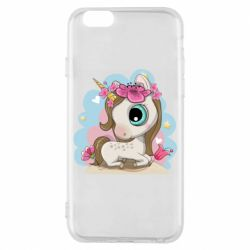 Чохол для iPhone 6S Unicorn with flowers