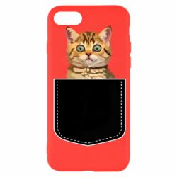 Чехол для iPhone 7 Cat in your pocket