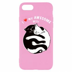 Чехол для iPhone 7 Cats with a smile