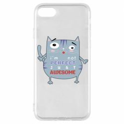 Чехол для iPhone 7 Cute cat and text