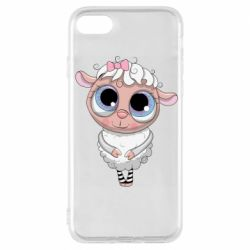 Чехол для iPhone 7 Cute lamb with big eyes
