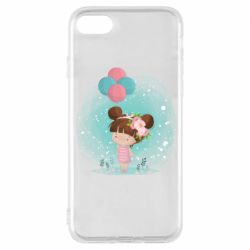 Чехол для iPhone 7 Girl with balloons