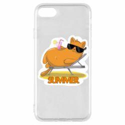 Чохол для iPhone 7 Котик на пляжі