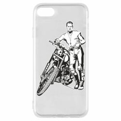 Чехол для iPhone 7 Mickey Rourke and the motorcycle