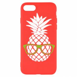 Чехол для iPhone 7 Pineapple with glasses