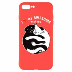 Чехол для iPhone 7 Plus Cats and love