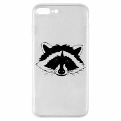 Чохол для iPhone 7 Plus Cute raccoon face