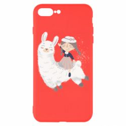 Чохол для iPhone 7 Plus Girl with a lama