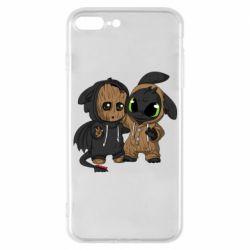 Чехол для iPhone 7 Plus Groot And Toothless