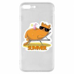 Чохол для iPhone 7 Plus Котик на пляжі