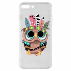 Чохол для iPhone 7 Plus Little owl with feathers