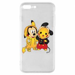 Чехол для iPhone 7 Plus Mickey and Pikachu
