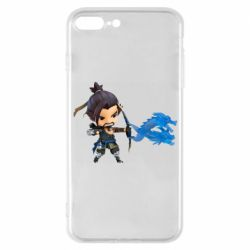 Чехол для iPhone 7 Plus Overwatch Hanzo Chibi