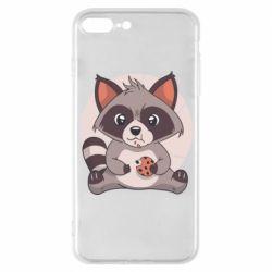 Чохол для iPhone 7 Plus Raccoon with cookies