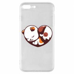 Чохол для iPhone 7 Plus Сердечко. Котик и собачка