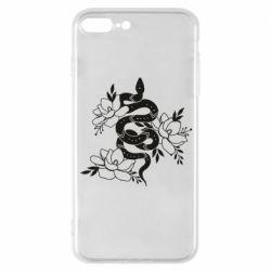 Чохол для iPhone 7 Plus Snake with flowers