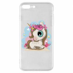 Чохол для iPhone 7 Plus Unicorn with flowers