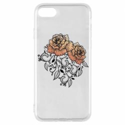 Чохол для iPhone 7 Roses with patterns
