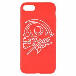 Чохол для iPhone 7 Skull with scythe