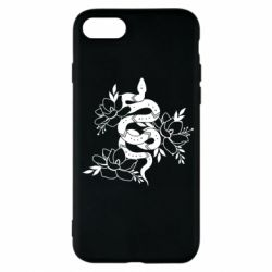 Чохол для iPhone 7 Snake with flowers