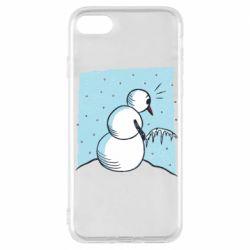 Чохол для iPhone 7 Snowman. It's Cold!