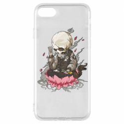 Чехол для iPhone 8 A skeleton sitting on a lotus
