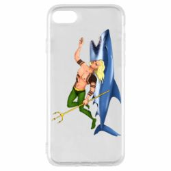 Чехол для iPhone 8 Aquaman with a shark
