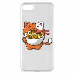 Чохол для iPhone 8 Cat and Ramen