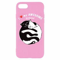Чехол для iPhone 8 Cats and love