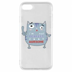 Чехол для iPhone 8 Cute cat and text