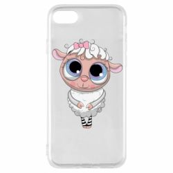 Чехол для iPhone 8 Cute lamb with big eyes