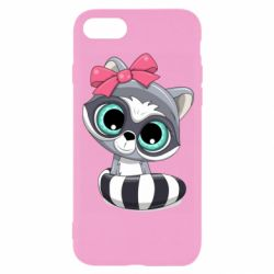 Чехол для iPhone 8 Cute raccoon
