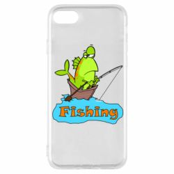 Чехол для iPhone 8 Fish Fishing