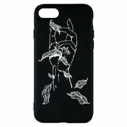Чохол для iPhone 8 Hand with leafs