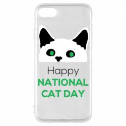 Чехол для iPhone 8 Happy National Cat Day