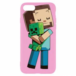 Чехол для iPhone 8 Heroes from Minecraft
