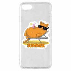 Чохол для iPhone 8 Котик на пляжі