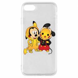 Чехол для iPhone 8 Mickey and Pikachu