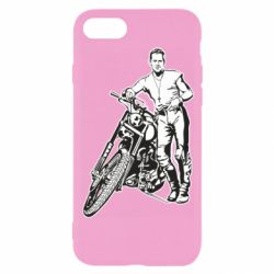 Чехол для iPhone 8 Mickey Rourke and the motorcycle